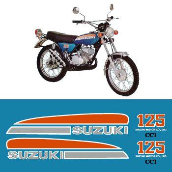 Kit Stickers Suzuki 125 TS 1074