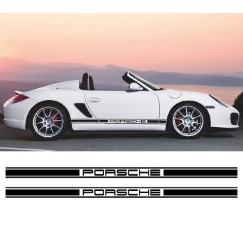 Porsche logo stripes decals set
