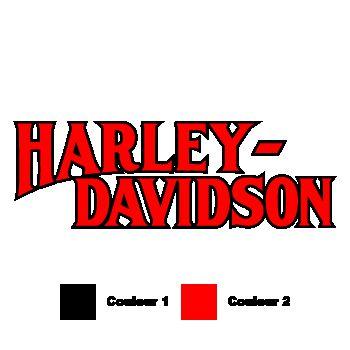 Harley Davidson 1950 color Decal