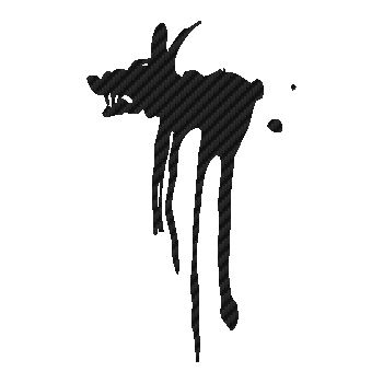 Dark Dog drink logo Carbon Decal