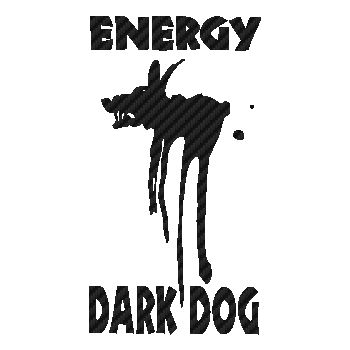Energy Drink Dark Dog logo Carbon Decal