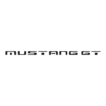 Ford Mustang GT 4 logo Carbon Decal