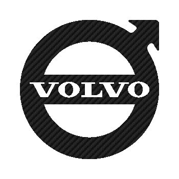 Volvo 1950 logo Carbon Decal