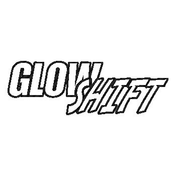 Glow Shift logo Carbon Decal