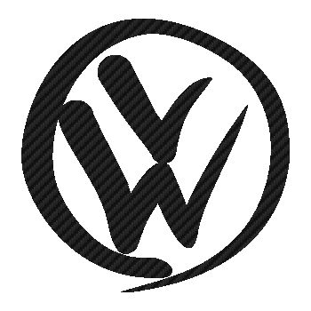 VW Volkswagen Peace logo Carbon Decal