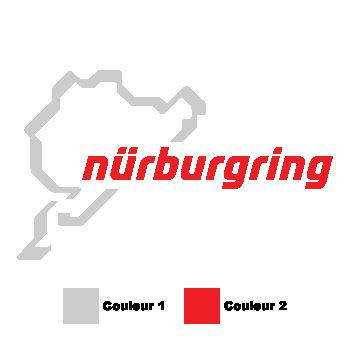 Sticker Nürburgring Rennstrecke couleur