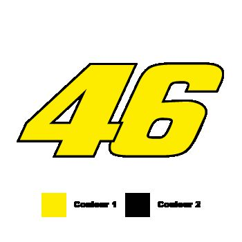 Valentino Rossi Number 46 Decal