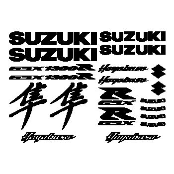 Kit Stickers Suzuki Hayabusa GSX 1300 R Kanji