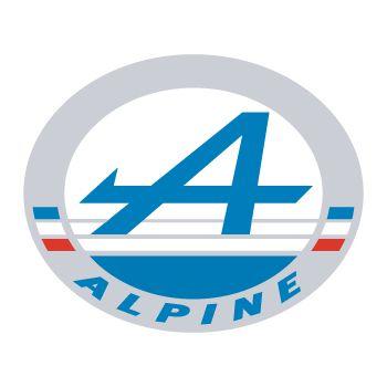 Sticker Alpine Automobile Logo