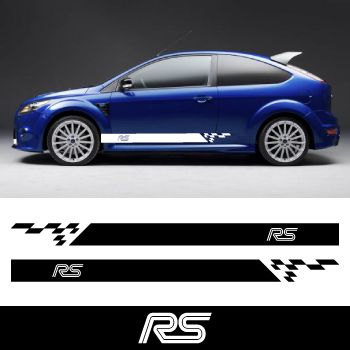 Kit Stickers Bandes Bas de Caisse Ford RS