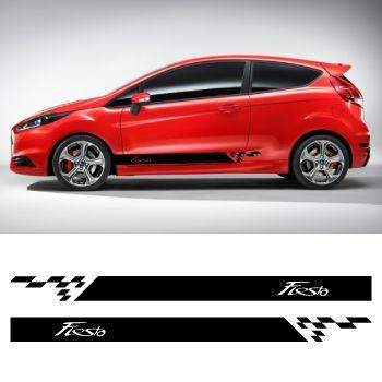 Kit Stickers Bande Seitenleiste Ford Fiesta mod?le 2