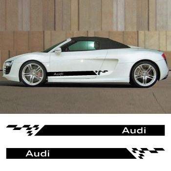 Car side Audi stripes stickers set
