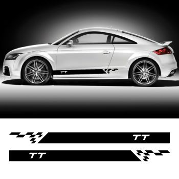 Car side Audi TT stripes stickers set