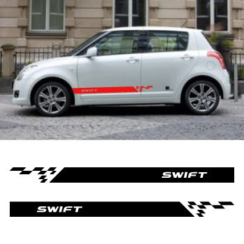 Car side Suzuki Swift stripes stickers set