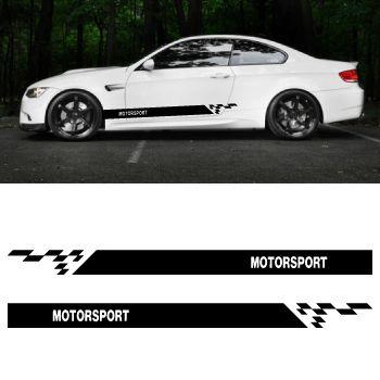 Car side BMW Motorsport stripes stickers set