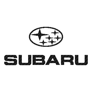 Sticker Carbone Subaru Logo 4