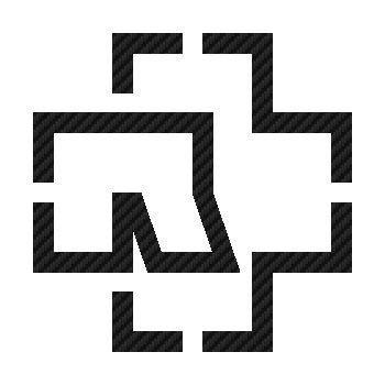Sticker Carbone Rammstein R-Cross Logo
