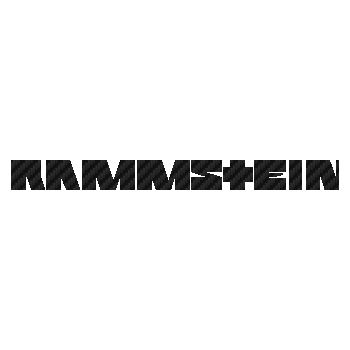 Sticker Carbone Rammstein Logo