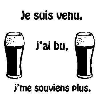 T-shirt Je Suis Venu, J'ai Bu