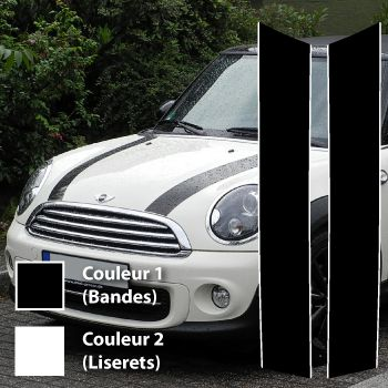 Kit Stickers Bande Mini III (Cooper S, One, Cabriolet) (2011- )