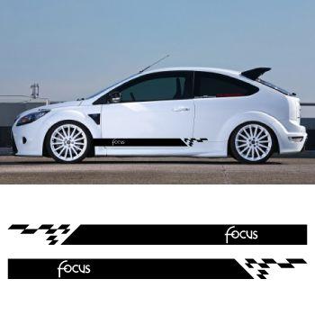 Kit Stickers Bandes Bas de Caisse Ford Focus Modèle 5 Portes