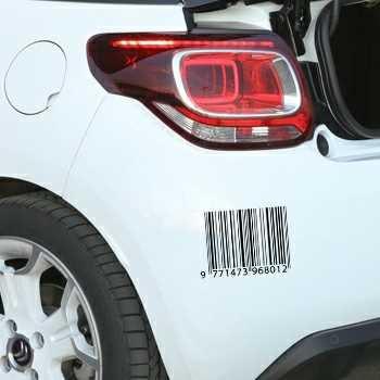 Sticker Citroen DS3 Code Barre