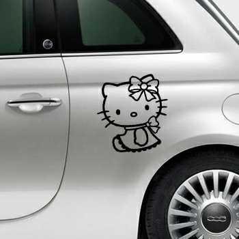 Sticker Fiat 500 Deko Hello Kitty Lacet