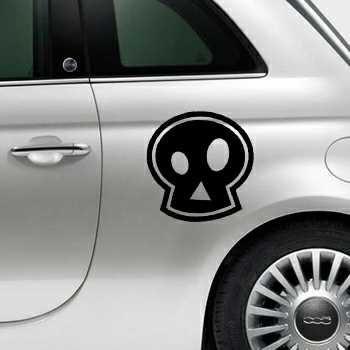 Sticker Fiat 500 Tête de Mort Emo
