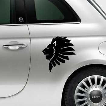 Sticker Fiat 500 Löwe Afrique