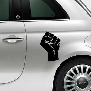 Fist Fiat 500 Decal 2