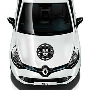 Sticker Renault Escudo Drapeau Portugais Portugal