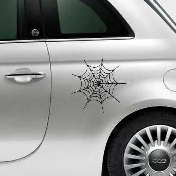 Sticker Fiat 500 Spinnennetz 2