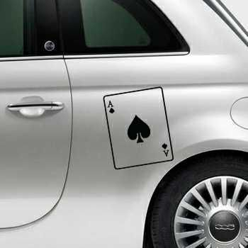 Ace of Spades Fiat 500 Decal
