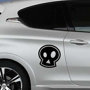 Sticker Peugeot Tête de Mort Emo