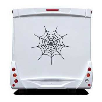 Spider Web Camping Car Decal 2