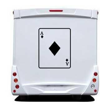 Ace of Diamonds Card Camping Car Decal