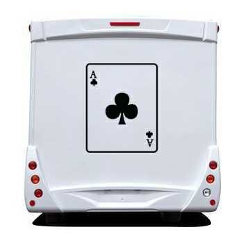 Ace of Clubs Camping Car Decal