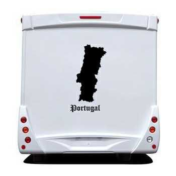 Portugal Silhouette Camping Car Decal