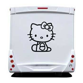Sticker Camping Car Deco Hello Kitty Assis