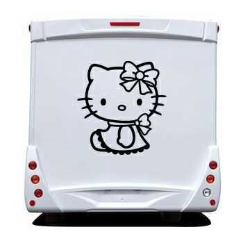 Sticker Camping Car Deco Hello Kitty Lacet