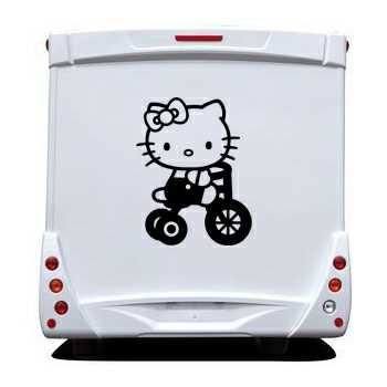 Hello Kitty Bicycle Camping Car Decal