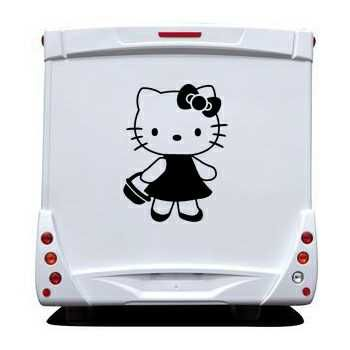 Sticker Camping Car Deco Hello Kitty Panier