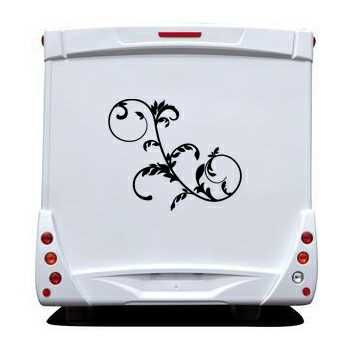 Floral Ornament Camping Car Decal