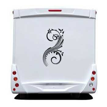 Floral Ornament Camping Car Decal 30
