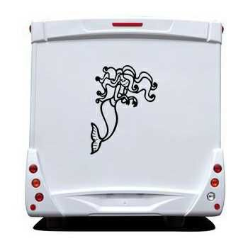 Mermaid Toon Camping Car Decal