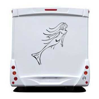 Mermaid Cartoon Camping Car Decal