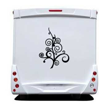 Sticker Camping Car Arbre Deco Design