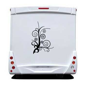 Sticker Camping Car Arbre Deco Design 2