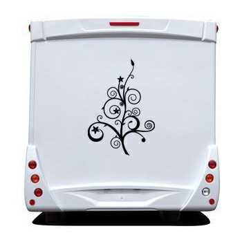 Tree flowers Camping Car Decal