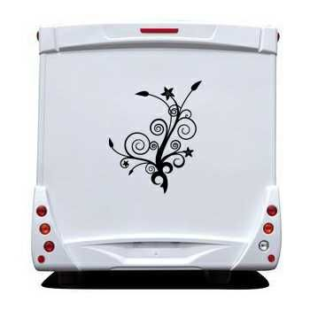 Tree flowers Camping Car Decal 2